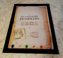 Rare Smashing Pumpkins Autographed Cd Sleeve And Poster Authentic Psa W/ Pictures