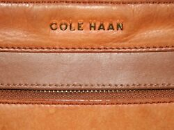COLE HAAN CROSSBODY SHOULDER BAG IN CAMEL COLORED LEATHER $15.00