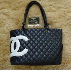 Cambon Shoulder Bag Gm Black Women And039s Tote Hand Secondhand _38666
