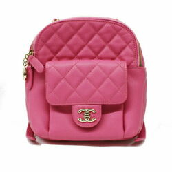 Chanel Backpack As0004 Pink Women #x27;S Day Pack Secondhand 39718 $7632.55