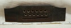 Gibson Solid Rosewood 1970andrsquos 12 String Acoustic Guitar Bridge With Saddle Cutout