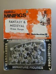 Mounted Men-at-arms Fm 3 - Minifigs - 15mm - Rare Unopened