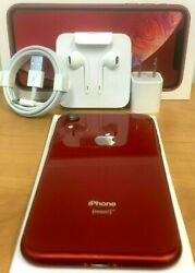 Apple Iphone Xr 64gb A1984 4g Lte Fully Unlocked 📱 Atandt T-mobile Verizon Red