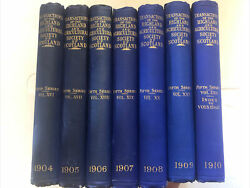 1904-1910 Lot 7 Antique Book The Highland And Agricultural Society Of Scotland