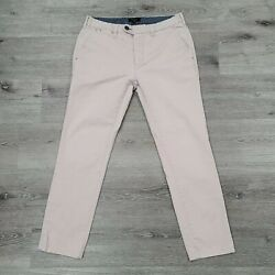 Ted Baker Mens 32x28 Pale Pink Slim Fit Procor Super Chinos Career Casual Pants