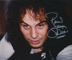 Ronnie James Dio Signed 10x8 Color Photo