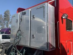 Smooth Aluminum 68 X 80 X 14 Inch Cab Rack With 3 Enclosed Doors