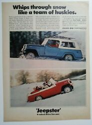 1968 Jeepster Convertible + Jeepster Commando Station Wagon Ad - Must See
