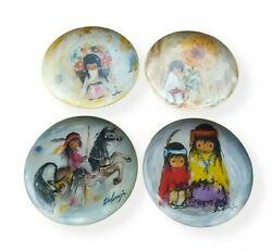 De Grazia Collector Plates Limited Edition Set Of 4. Artists Of The World