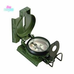 Us Military Tritium Lensatic Compass Accurate Waterproof With Pouch Olive Drab