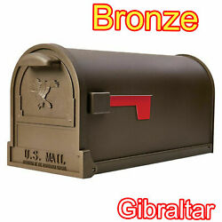 Mailbox Post Mount Heavy Duty Galvanized Steel Weather Resistant Rust Proof Mail