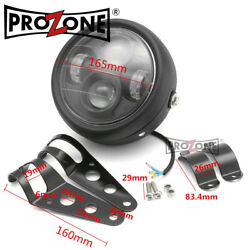 Metal Motorcycle 6.5 30w 12v Led Headlight With Holder For Harley Scooter