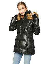 S13 Womens Faux Fur Gramercy Midlength Down Puffer - Choose Sz/color