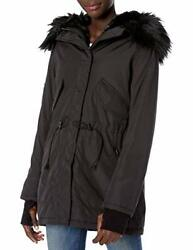 S13 Womenand039s Luxe Canyon Lined Parka With Faux Fur - Choose Sz/color