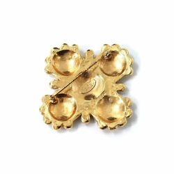 Flower Lion Brooch Gold 23 Vintage Accessory Secondhand _42109