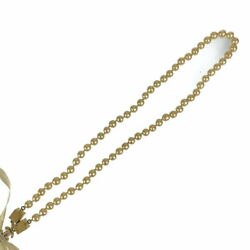 Vintage Faux Pearl Ribbon With Storage Box Gold Fittings Metal Pla _41713