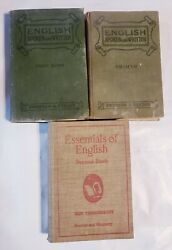 Antique Vintage Old Books School English Readers Lot Of 3