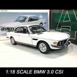 Only One Autoart 118 Scale Bmw 3.0 Csi 1971 White Diecast Car Model Collections