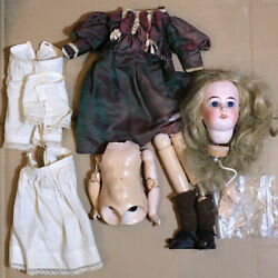 Rare Jules Joseph Jeanson French Bisque Doll Head For 17 Doll