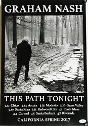 Graham Nash Signed This Path Tonight 2017 Concert Poster Jsa Authenticated