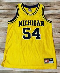 Vtg Authentic Nike Michigan Jersey Rare 54 Tractor Traylor 1995-98 Ncaa Sewn 44