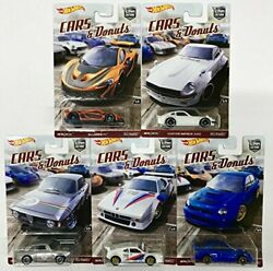 Hot Wheels Car Culture Cars And Donuts Set Of 5 Real Rider Collectible Die Cast