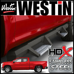 Westin Hdx Drop Stainless Steel Nerf Step Bars 2019-21 Silverado 1500 Double Cab