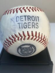 Vtg 1989 Detroit Tigers Team Signed Logo Ball W/ 22 Signatures Ft. Paul Gibson