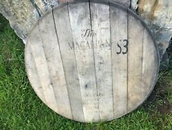 Very Big Macallan Whisky Barrel Lid - Braced And Ready To Hang - 27 Wide