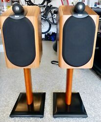 Bandw Bowers And Wilkins Cmd 1nt Speakers With Stands And Anti-cable Jumpers