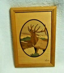 Elk Hudson River Inlay Marquetry Nelson Vintage