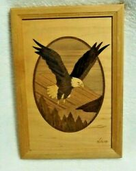 Eagle In Flight Hudson River Inlay Marquetry Nelson Vintage
