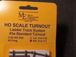 Micro- Engineering 14-711 Ho Ladder Track System Turnout Rh 5a Code 83