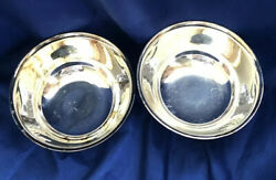 Oneida Silversmiths Paul Revere Reproduction Silver Plated Bowls Set Of 2 Vtg