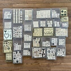 Huge Stampinandrsquo Up Total Of 302 Stamps Lot Of 33 Stamp Sets New And Used