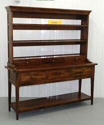 Stunning Willis And Gambier Mahogany Rich Brown Sideboard Open Display Cabinet