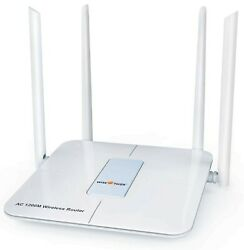 Wireless Router 1200mbps Long Range Wifi Router Ac High Speed Dual Band R... New