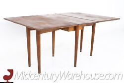 Conant Ball Mid Century Solid Maple Drop Leaf Dining Table - Vintage Mcm