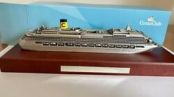 Costaclub-maquette Metal Costa Classica Club 16cm Wood Stand - Paper Weight