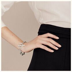Hermes Shane Dunkle Chaine Dand039ancre Small Women And039s 15 Frames Silver Bracel _46327