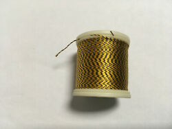 Vintage Silk Thread For Bamboo Fly Rods Size A - Jasper Yellow/black