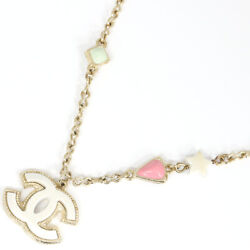 Necklace Coco Mark Ab1049 Gold White Pink 19p Engraved 2019 Model