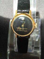 Waltham Diamond Vintage American Home Accident Health Black Facegold Plated