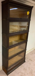 Macey 811 Antique Oak Barrister Lawyers 5 Stack Bookcase 1900's