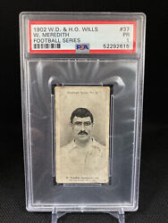 1902 W.d And H.o Wills W William Billy Meredith 37 Psa 1 Manchester City Rare
