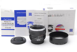 [ab Exc+ In Box] Carl Zeiss Planar 50mm F/1.4 T Zf Lens Nikon F From Japan 6888