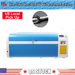 Hl1060 100w Co2 Usb Laser Cutting Machine Auto-focus Without Chiller Us Pick Up