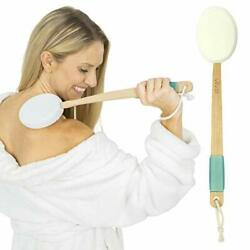 Back Lotion Applicator Long Reach Handle W/ Pads For Easy Self Shower Bath