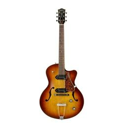 Godin 5th Avenue Cw Kingpin Ii P90 Cognac Burst Guitar Archtop With Tric Houses