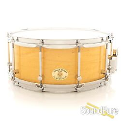 Noble And Cooley 6x14 Ss Classic Maple Snare Drum-yellow